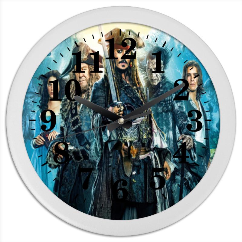 Часы круглые из пластика Printio «пираты карибского моря». пираты