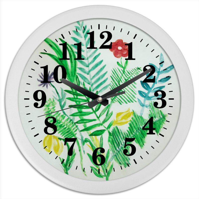 Часы круглые из пластика Printio Растения часы круглые из пластика printio осенние листья