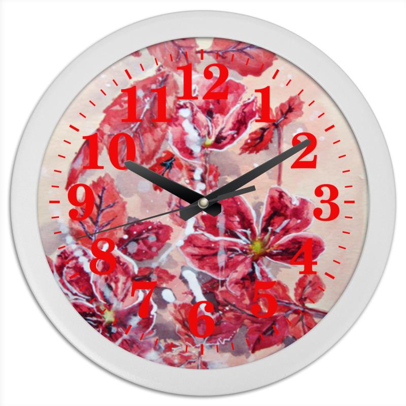 Часы круглые из пластика Printio Розовый шиповник edison детский стакан из нержавеющей стали розовый 240мл