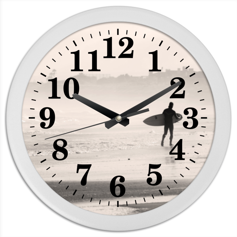 Часы круглые из пластика Printio Океан