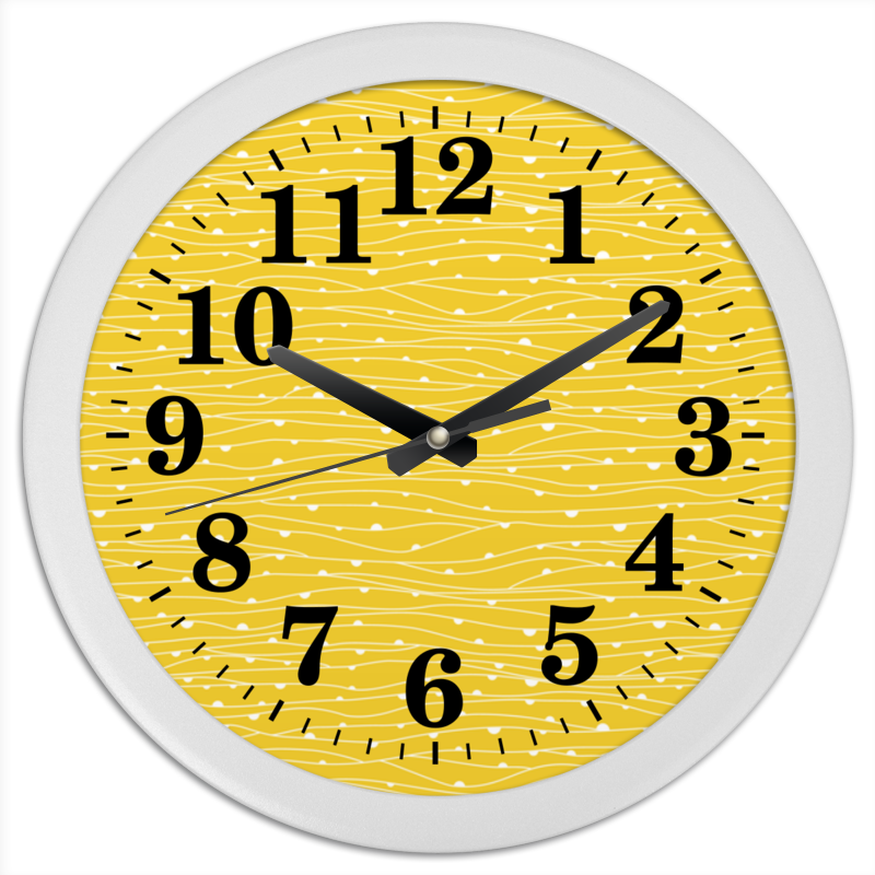 Часы круглые из пластика Printio Жёлтое поле горчичное семя жёлтое 50 г индия