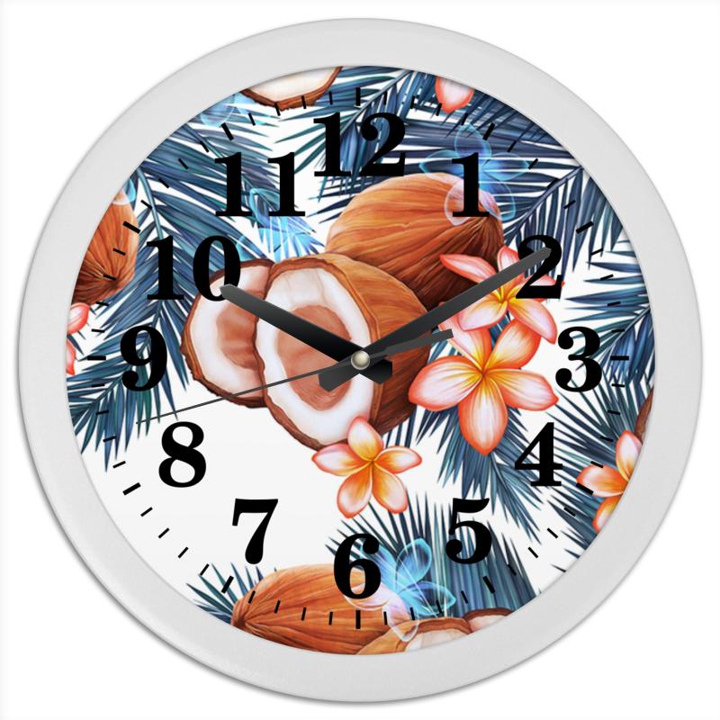 Часы круглые из пластика Printio Кокосы для тех кто любит математику 1 класс фгос