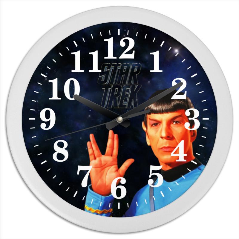 Часы круглые из пластика Printio Звездный путь-star treck бусики колечки часы звездный час бижутерный сплав арт wt 105