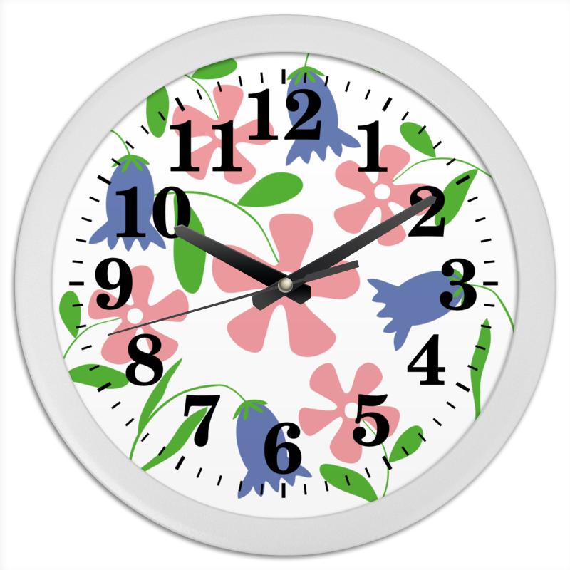 Часы круглые из пластика Printio Полянка коробка для кружек printio снежинки