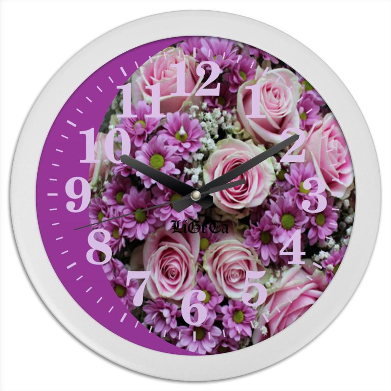 Часы круглые из пластика Printio Цветы часы круглые из пластика printio горы сосны и цветы