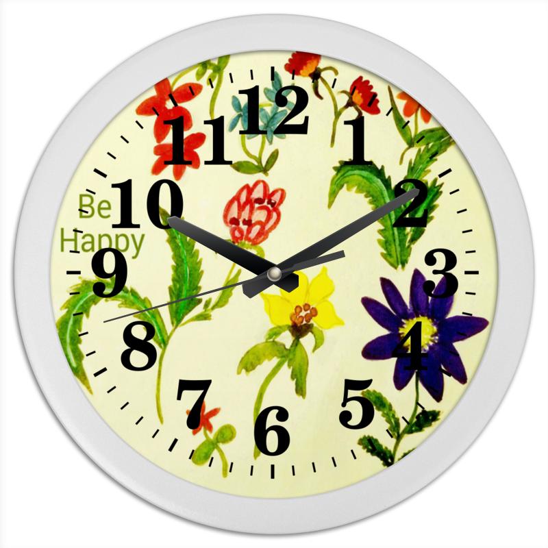 Часы круглые из пластика Printio Цветы тропиков часы круглые из пластика printio горы сосны и цветы
