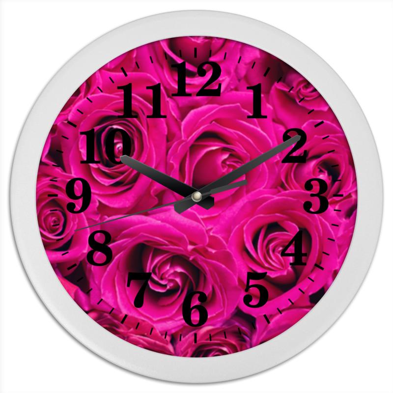 Часы круглые из пластика Printio Pink roses леггинсы printio roses