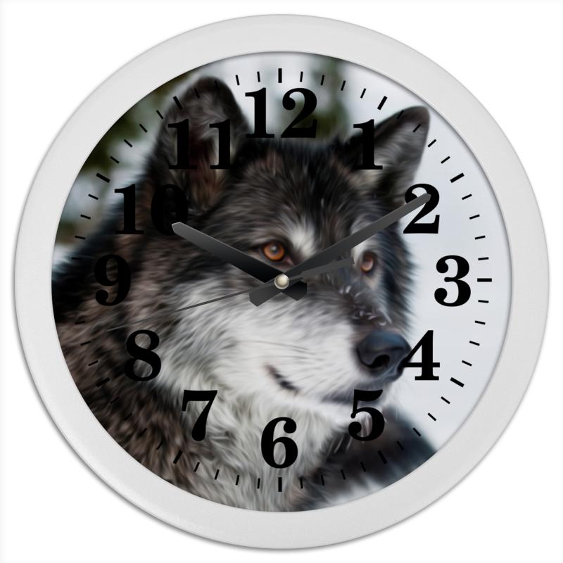 Часы круглые из пластика Printio Серый волк часы круглые из дерева printio волк в лесу