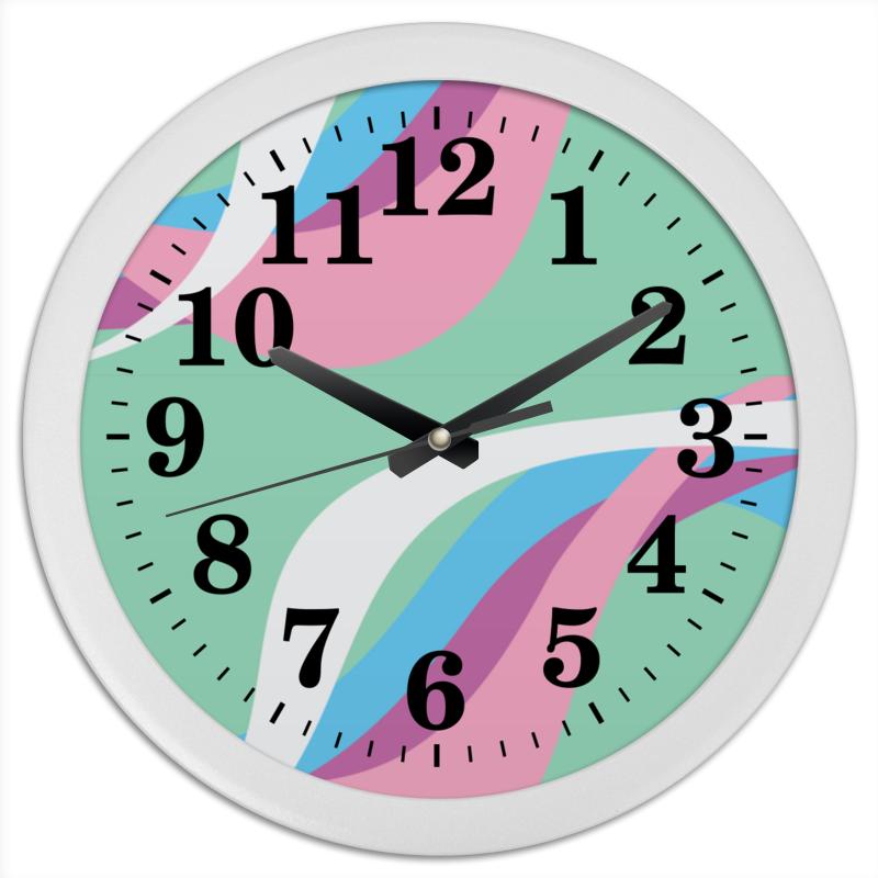 Часы круглые из пластика Printio Волны часы круглые из пластика printio венок осенний