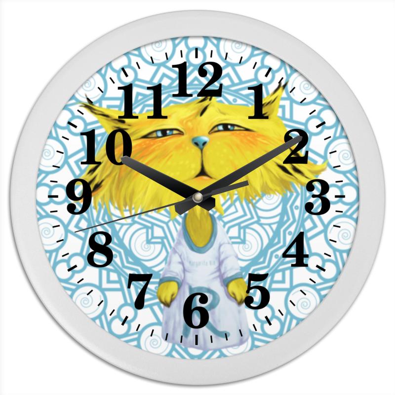 Часы круглые из пластика Printio Рысёнок часы круглые из пластика printio день победы