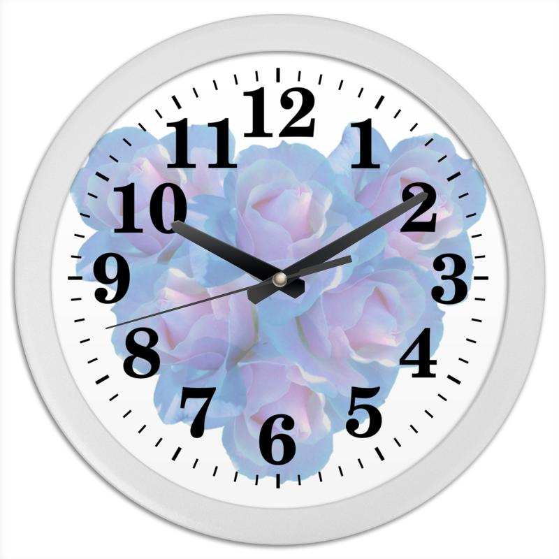 Часы круглые из пластика Printio Нежные цветы