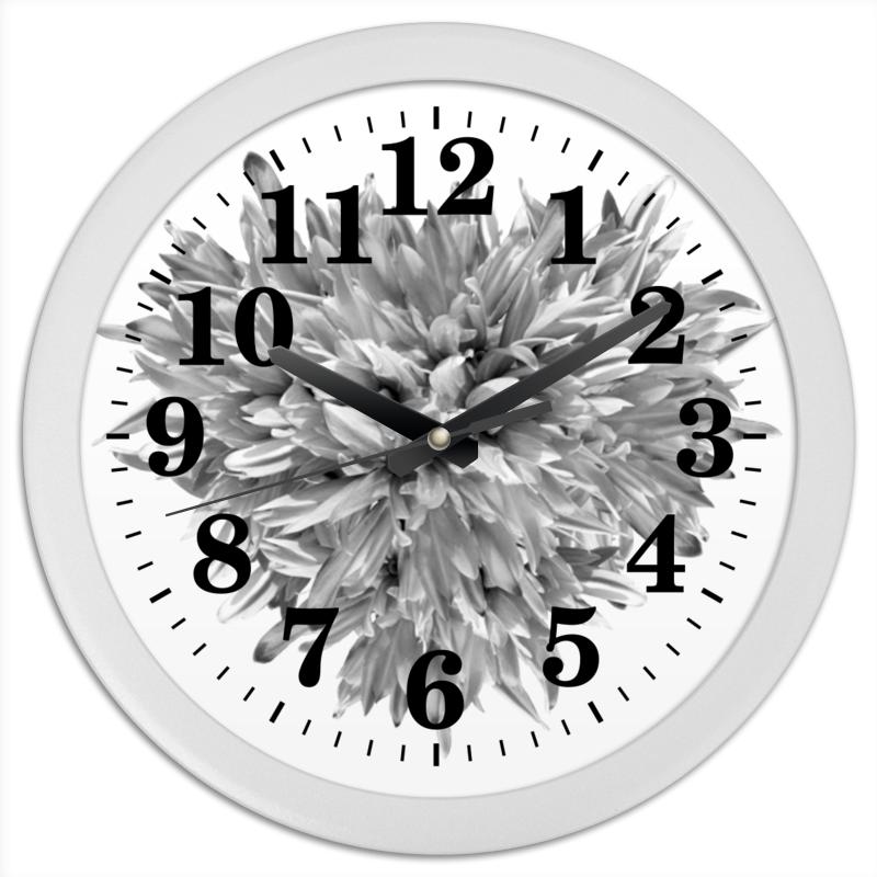Часы круглые из пластика Printio Цветочные будни