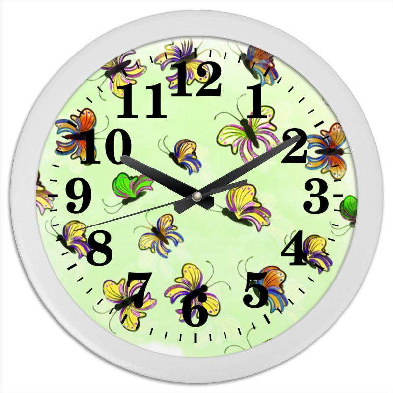 Часы круглые из пластика Printio Бабочки веб камера logitech conferencecam c ptz pro 960 001022