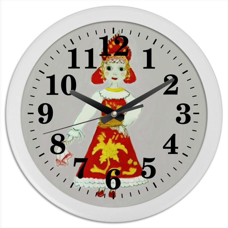 Часы круглые из пластика Printio Масленица пудовъ ржаной хлеб с клюквой и анисом 500 г
