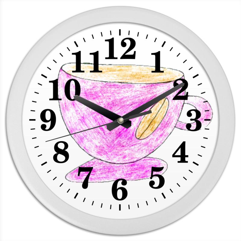 Часы круглые из пластика Printio Кофейная чашка чашка canvas