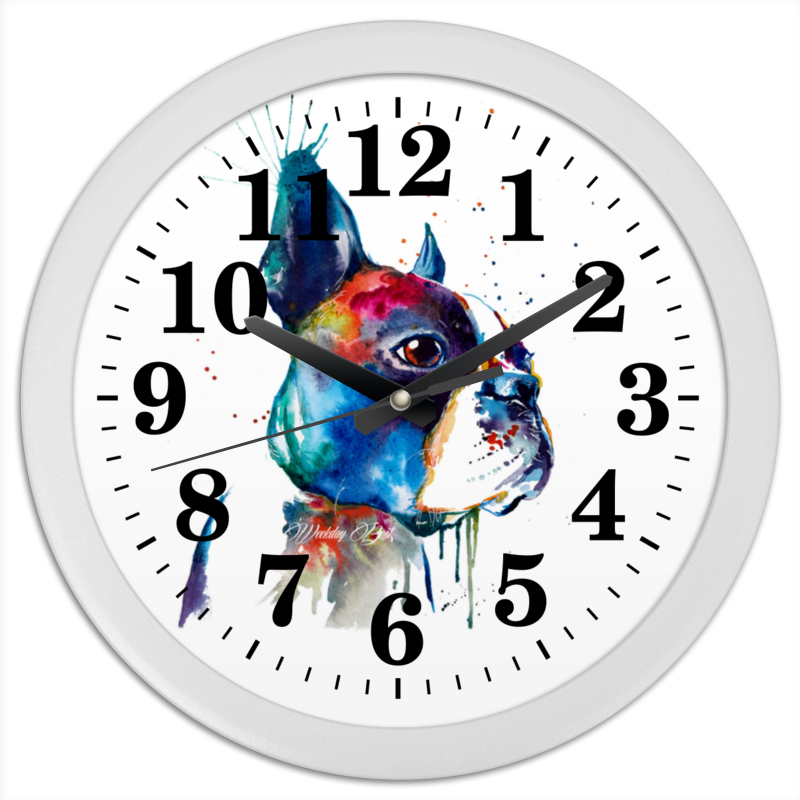 Часы круглые из пластика Printio Собачка часы круглые из пластика printio музыка