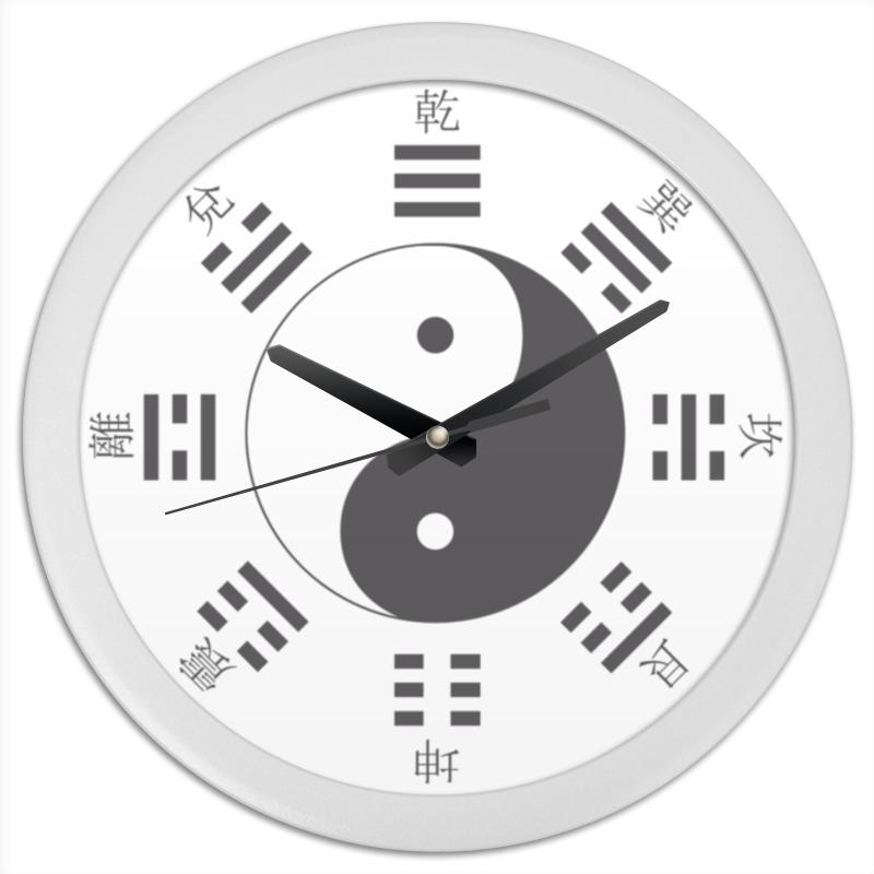 Часы круглые из пластика Printio Великий предел (太極) предел риска
