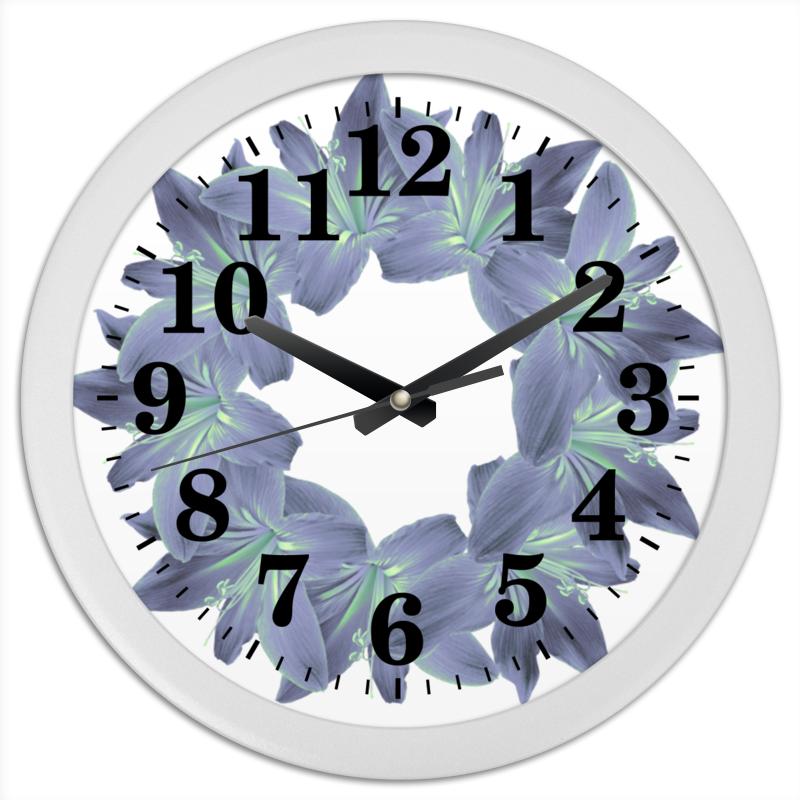 Часы круглые из пластика Printio Пастельный синий