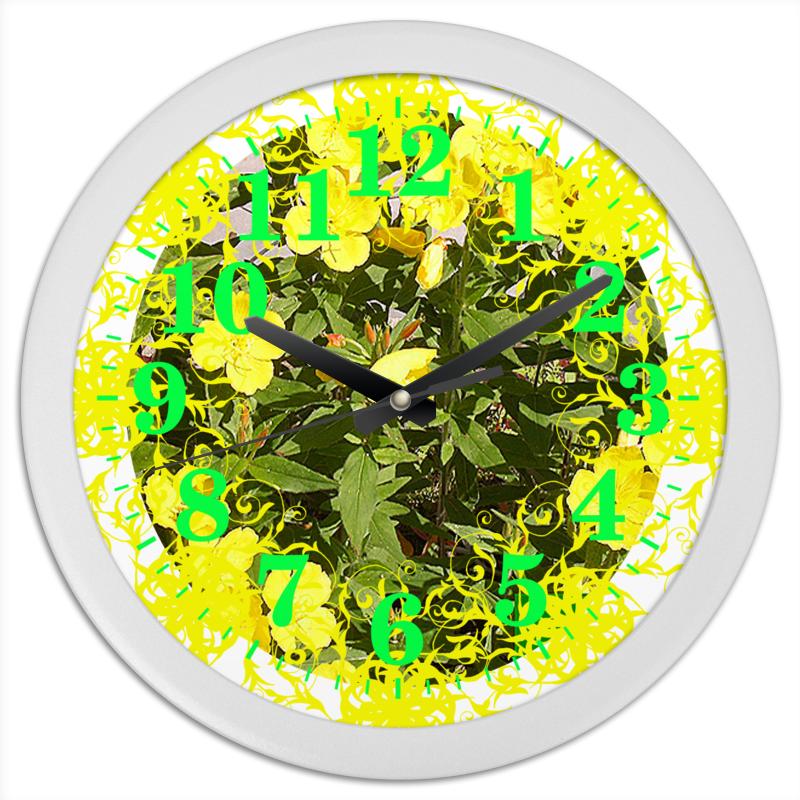 Часы круглые из пластика Printio Яркий день.