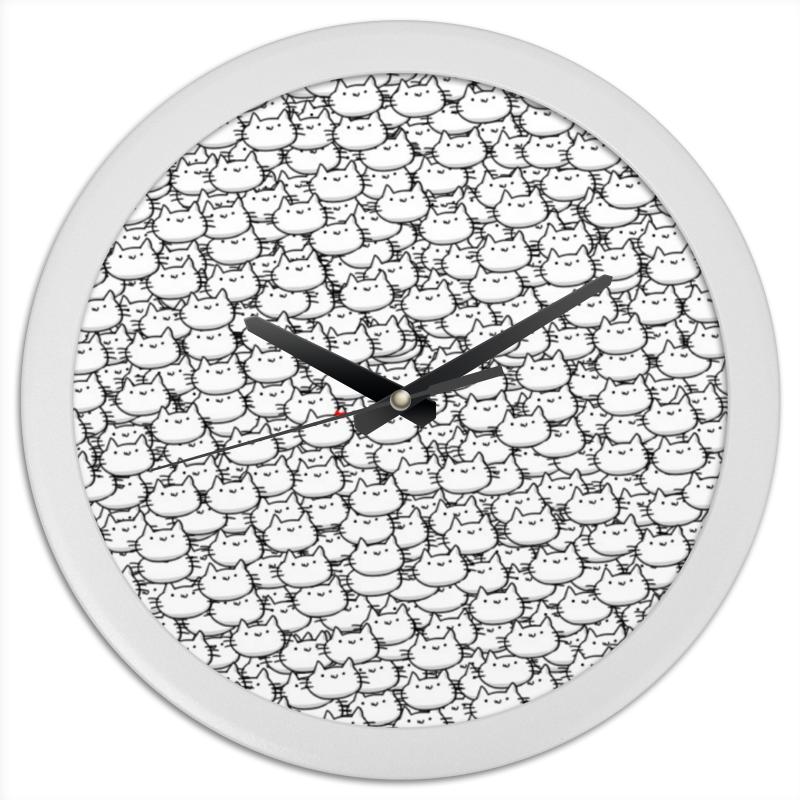 Часы круглые из пластика Printio Котики часы квадратные из пластика под дерево printio in garden