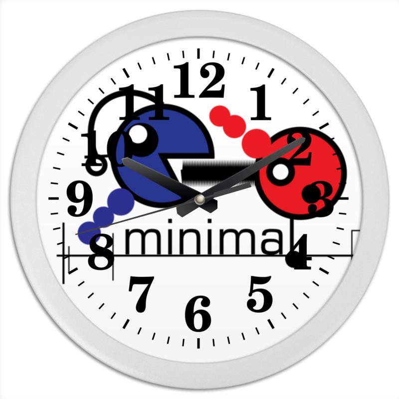 Часы круглые из пластика Printio Минимал цена