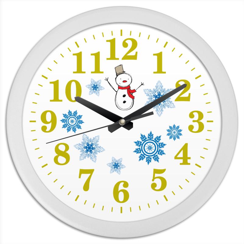 Часы круглые из пластика Printio Часы настенные