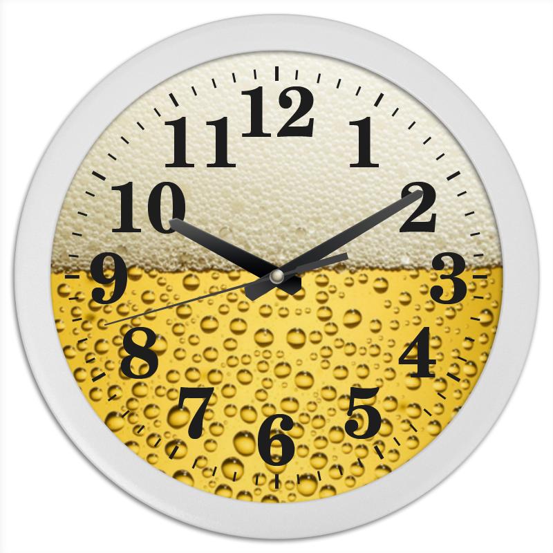 Часы круглые из пластика Printio Пенное время