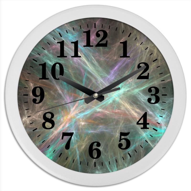 Часы круглые из пластика Printio Абстрактный дизайн часы круглые из пластика printio путаница абстракция