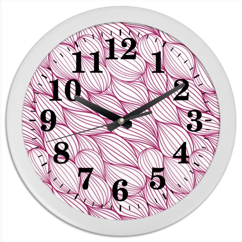 Часы круглые из пластика Printio Абстрактная текстура