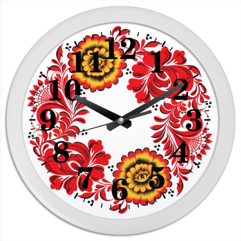 Фото Часы круглые из пластика Printio Русский орнамент 2