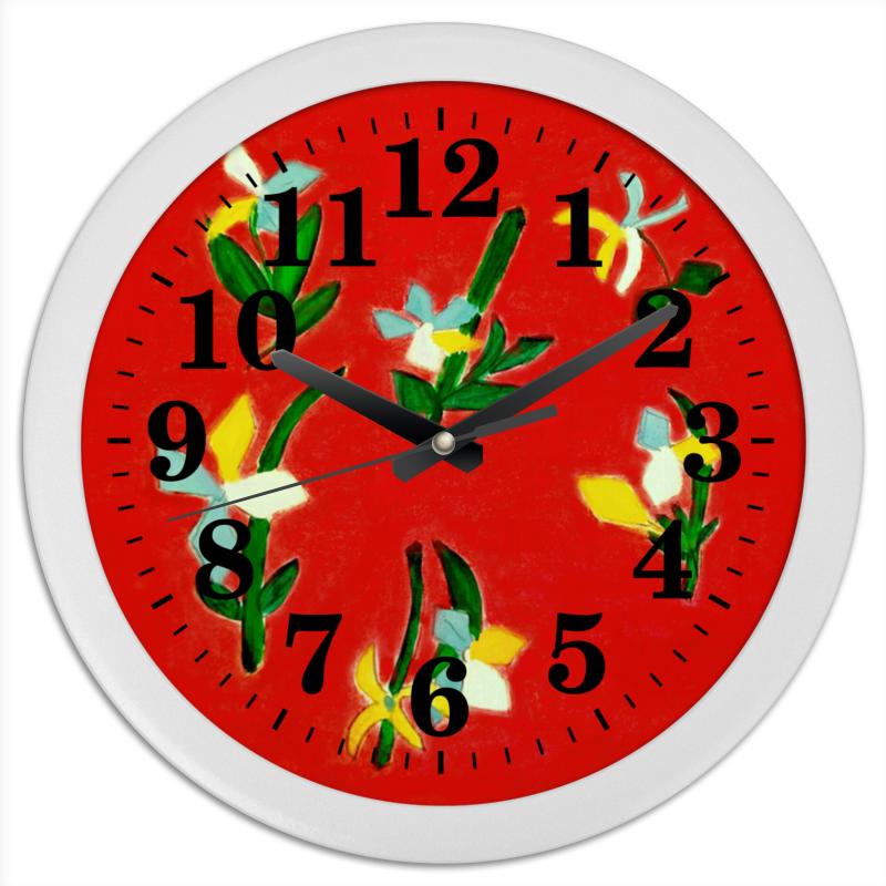 Часы круглые из пластика Printio Весна, весна кружка printio весна весна