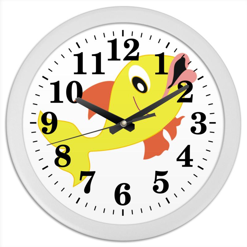 Часы круглые из пластика Printio Золотая рыбка часы круглые из пластика printio fish bus рытобус рыба автобус