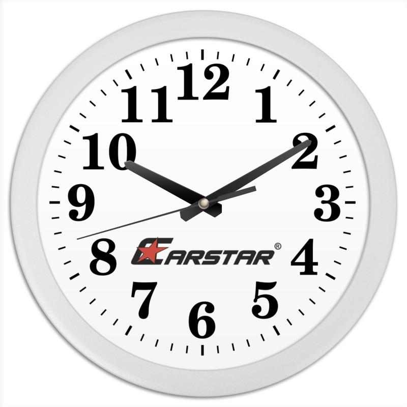 Часы круглые из пластика Printio Carstar рубашка поло printio carstar