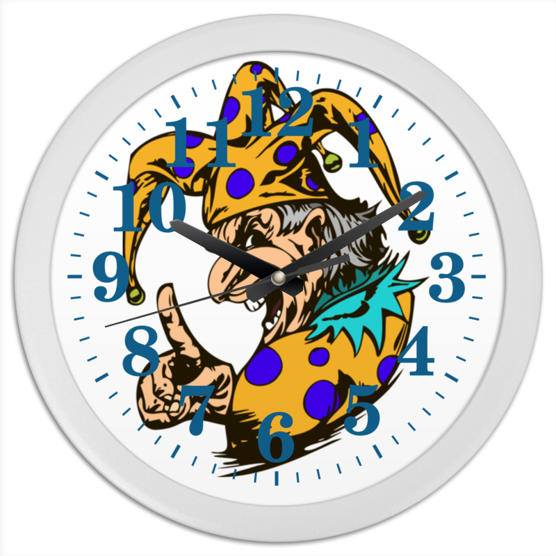 Часы круглые из пластика Printio Джокер предупреждает конфеты круглые с ромом купить в иркутске