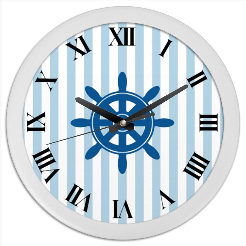 Часы круглые из пластика Printio Морской волк часы круглые из дерева printio волк в лесу