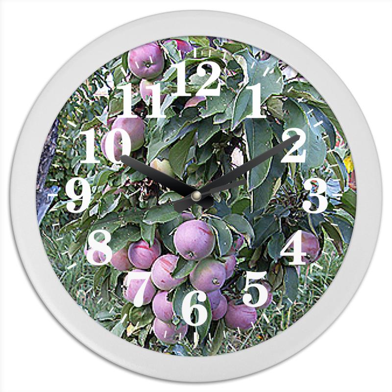 Часы круглые из пластика Printio Время урожая.