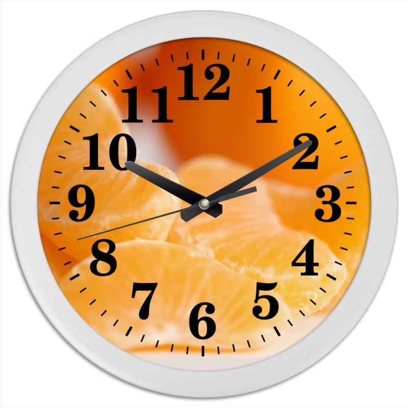 Часы круглые из пластика Printio Апельсинки с пудовъ кисель молочный ванильный 40 г