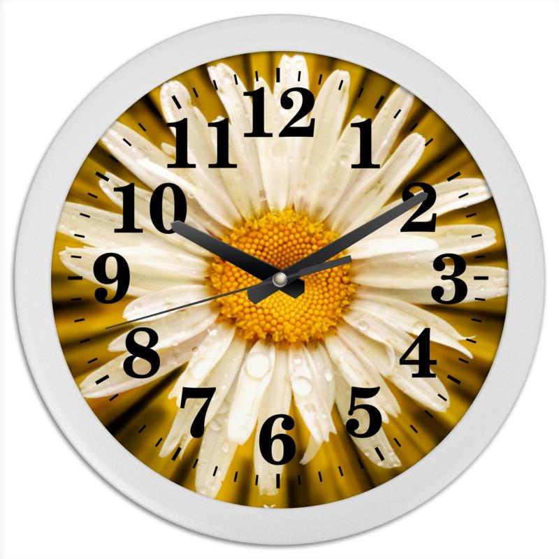 Часы круглые из пластика Printio Часы ромашка погремушка ромашка