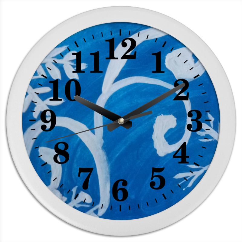 Часы круглые из пластика Printio Снежинки часы круглые из пластика printio новый год 2017