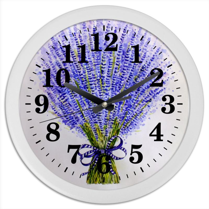 Часы круглые из пластика Printio Лаванда buenos ninos лаванда цветок номер м