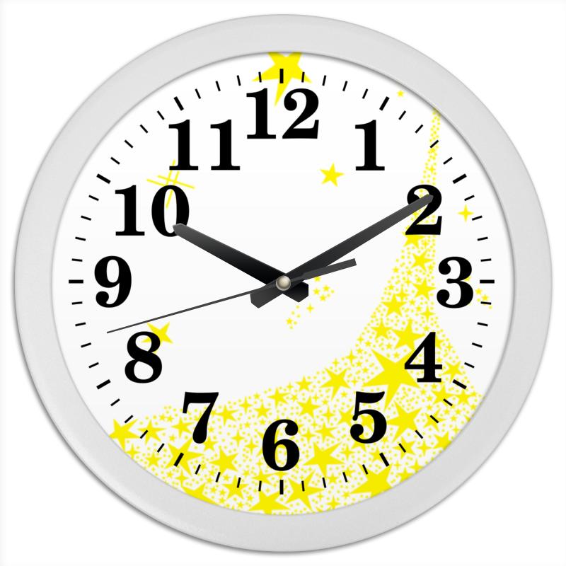 Часы круглые из пластика Printio Звездный час отсутствует металлоснабжение и сбыт 12 2014