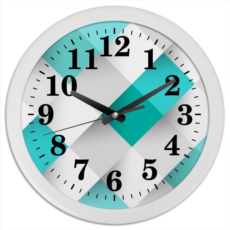 Часы круглые из пластика Printio Кубические хлопок возраст purcotton детские влажные салфетки детские влажные салфетки 20 15см 20 хлопок мешок 10