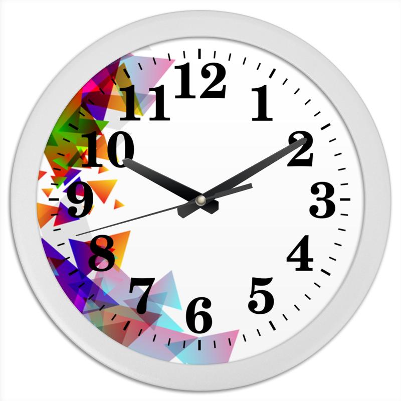 Часы круглые из пластика Printio Оптимистичная абстракция