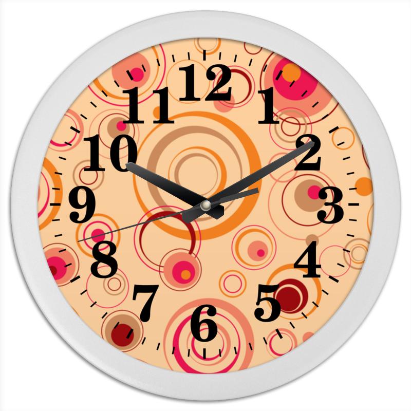 Часы круглые из пластика Printio Абстрактные часы круглые из пластика printio анютины глазки