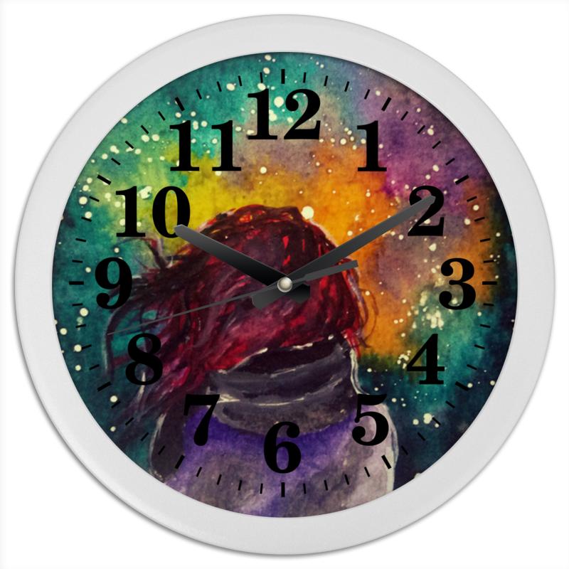 Часы круглые из пластика Printio Без названия