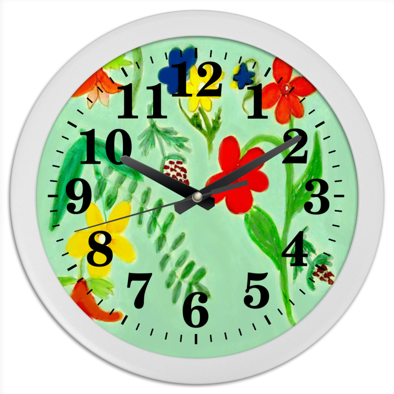 Часы круглые из пластика Printio Часы летние цветы часы круглые из пластика printio горы сосны и цветы