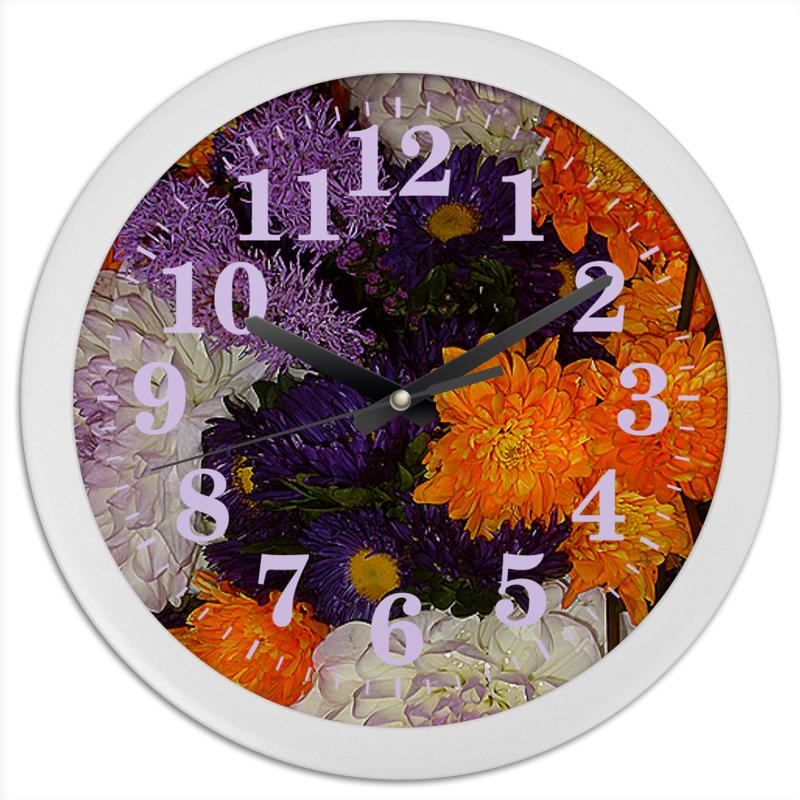 Часы круглые из пластика Printio Цветное время!
