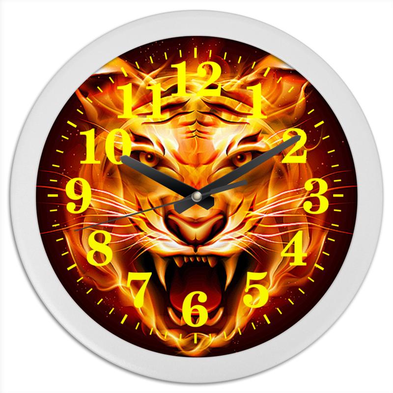 Часы круглые из пластика Printio Тигры фэнтези тарифный план