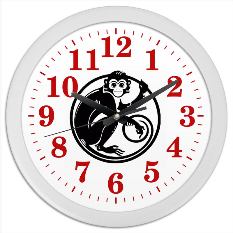 Часы круглые из пластика Printio 2016 год - год красной обезьяны