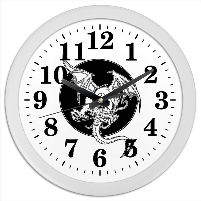 Часы круглые из пластика Printio Дракон часы круглые из пластика printio анютины глазки